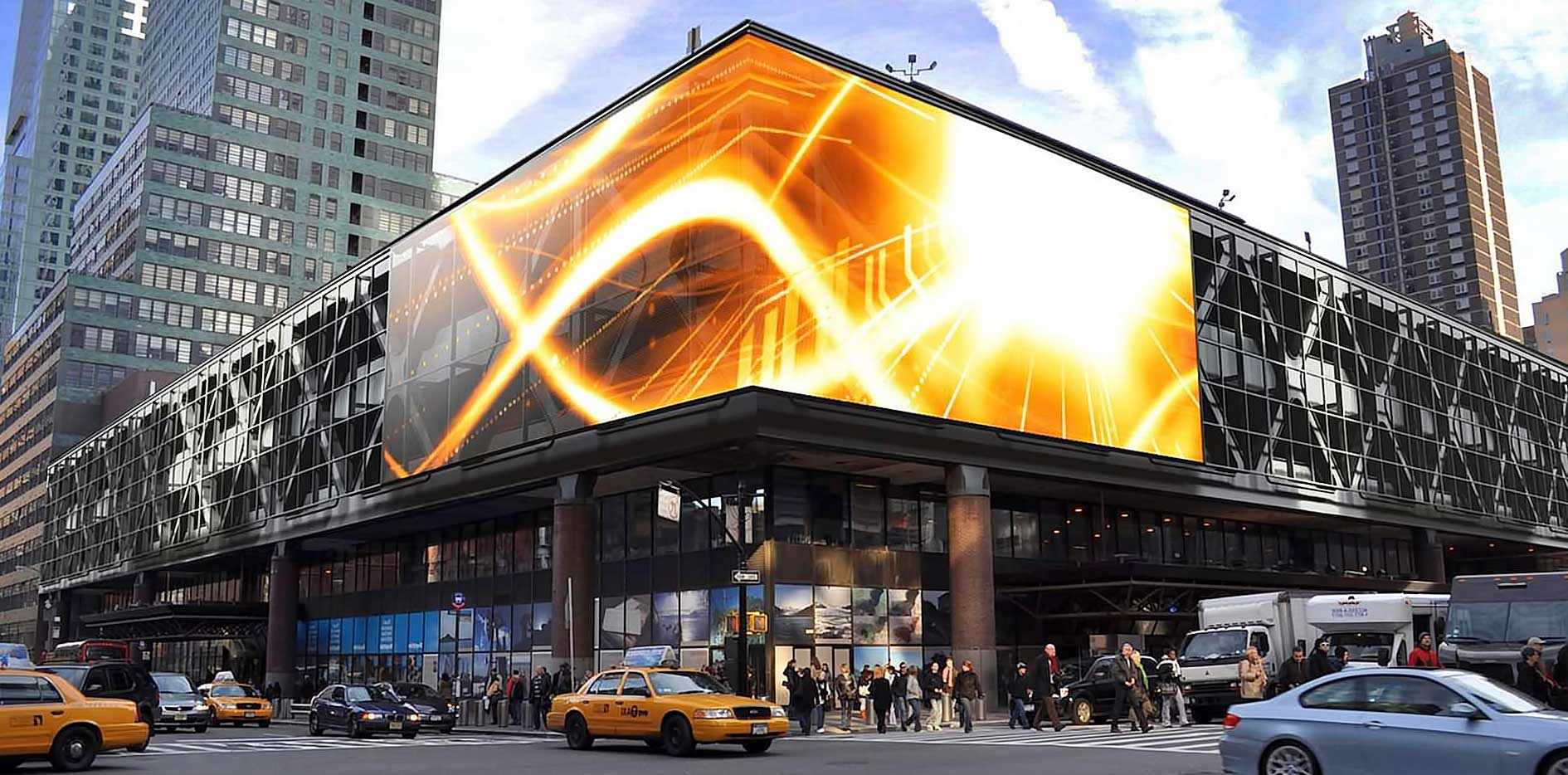 Что такое рекламный контент на светодиодных экранах?